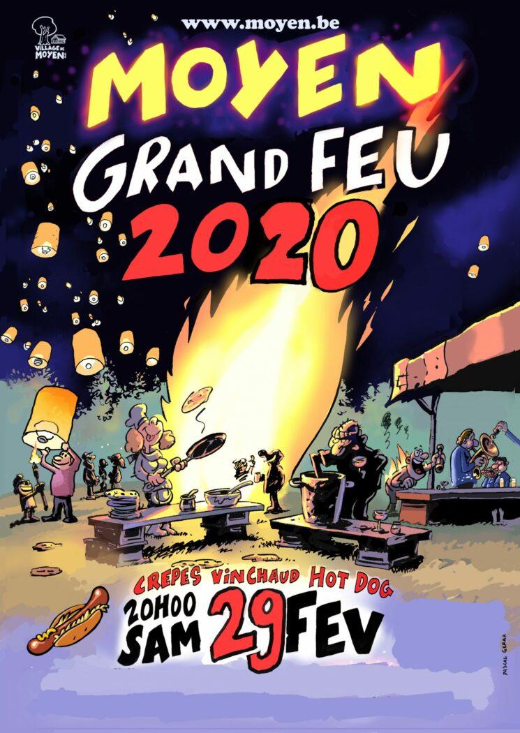 L'affiche du Grand feu 2020